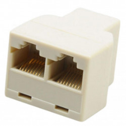 Сплиттер Atcom витой пары, UTP, 8P8C- RJ-45 1port (female) to 2port (femal (12450)
