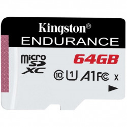 Карта памяти Kingston 64GB microSDXC class 10 UHS-I U1 A1 High Endurance (SDCE/64GB)