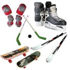 Ковзани, ролики, скейтборди, лижі